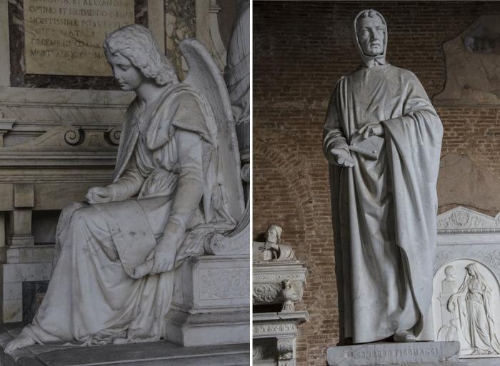 Скульптуры знаменитого кладбища.