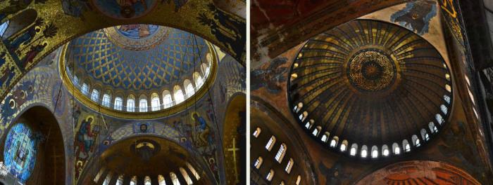 Собор св. Николая (слева) и собор св. Софии (справа). /Фот: silver-ring.ru, пользовтаель pink_mathilda