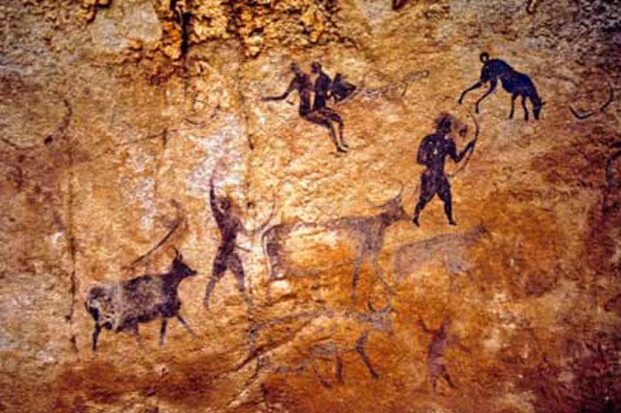 Наскальная живопись Тассилин-Аджера (Сев.Африка), VI тыс. лет до н.э.