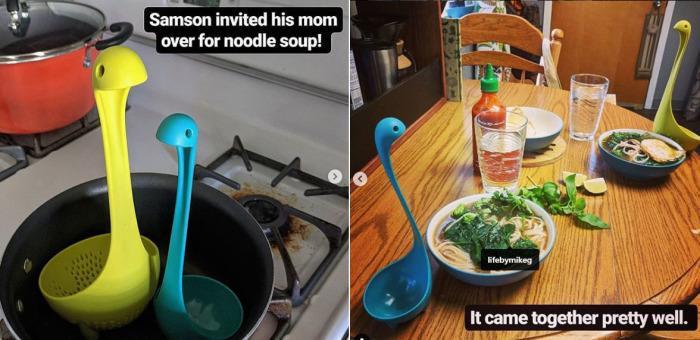 Самсон работает на кухне вместе с мамой. /Фото:instagram.com