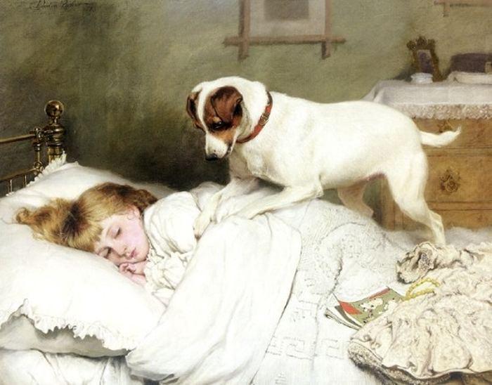 «Пора будить» /Charles Burton Barber