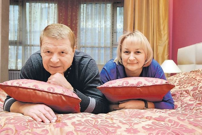 Михаил Кокшенов и Наталья были счастливы. /Фото: Мила Стриж, kp.ru