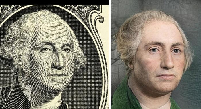 А вот так, по «мнению» искусственного интеллекта, выглядел на самом деле Джордж Вашингтон