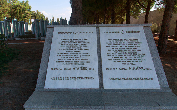Трогательная речь Ататюрка в память о погибших врагах. /Фото:marmara-calypso.livejournal.com