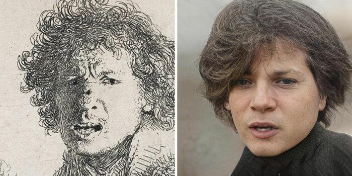 Фотография, созданная на основе одного из 400-летних автопортретов Рембрандта.