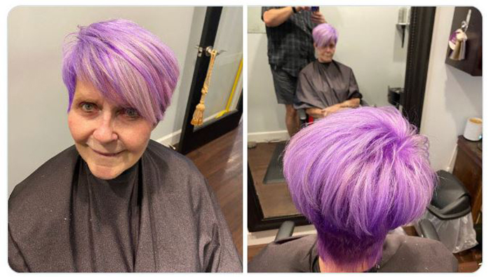 Пенсионерка Патти более тридцати лет ходила рыжей, а потом решилась....
