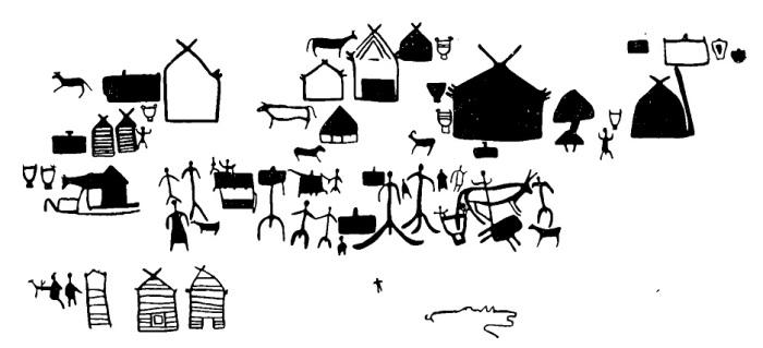 Копия фрагмента Боярской писаницы./Фото:arheologija.ru