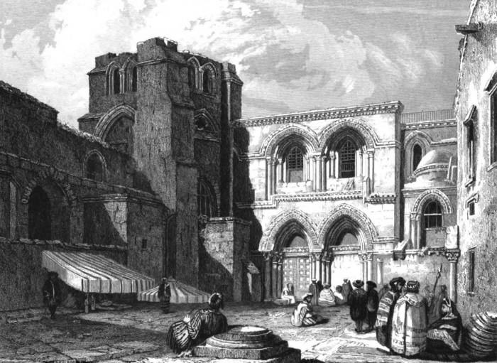 Лестница на одной из гравюр (примерно 1832 год).