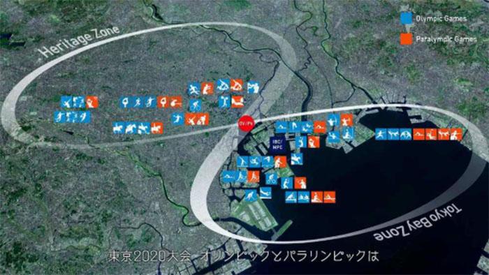 Будущее расположение объектов Олимпиады 2020: зона наследия и зона токийского залива. /Фото:kimonoimag.ru