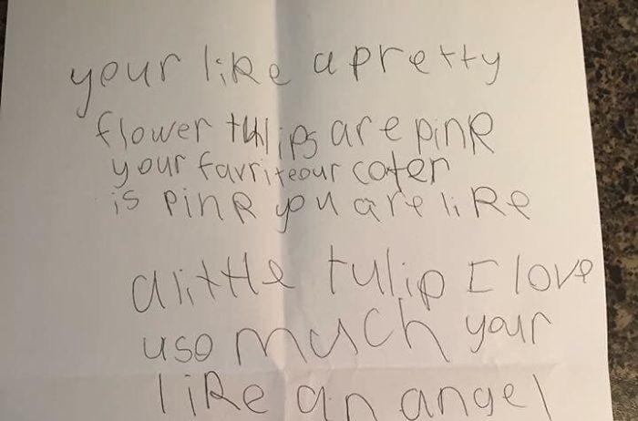Бабушка получила «анонимное» послание от шестилетней внучки. /Фото:Керри Сакко