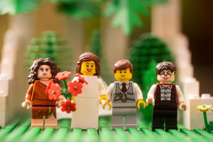 Свадьба в стиле лего.