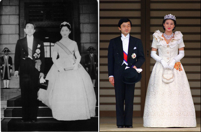 Два исторических бракосочетания - женитьба императора Японии и женитьба его преемника, наследного принца Нарухито. /Фото:beon.ru