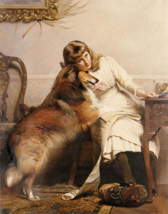 «Влюбленные» /Charles Burton Barber