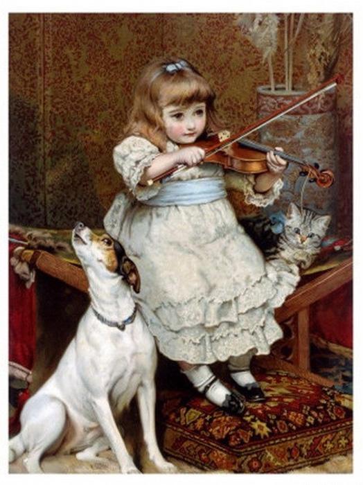 «Порванная струна» /Charles Burton Barber