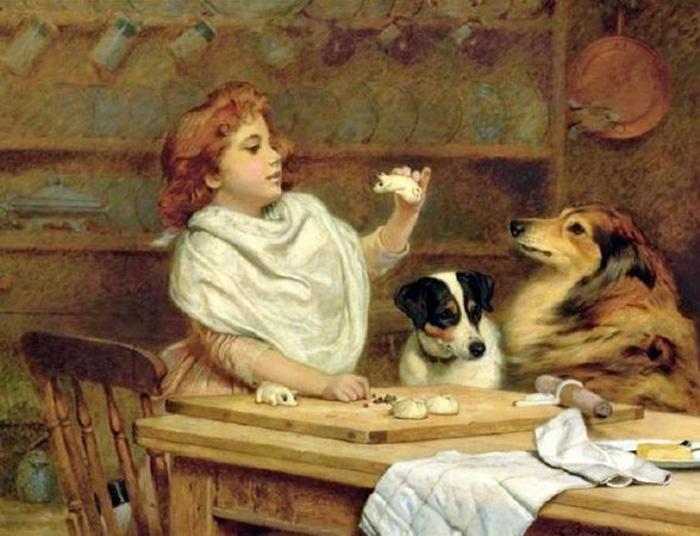 «Маленькая стряпуха и два ее ассистента» /Charles Burton Barber