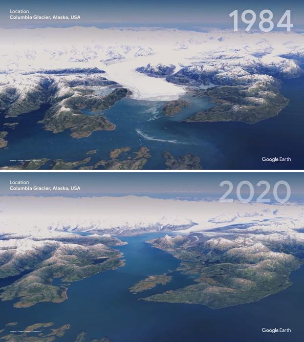 Ледник на Аляске уже не тот...