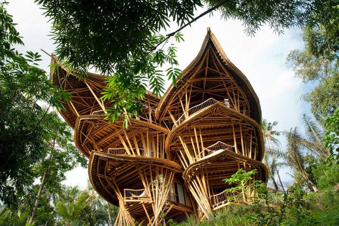 Частный дом в форме лотоса. /Фото:ideas.ted.com