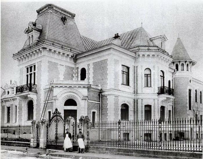 Дом-замок семьи чаеторговца Высоцкого.Ретро-фото./Фото:pastvu.com