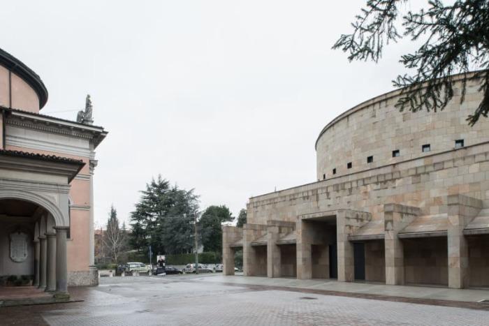 Церковь работы Греготти. Вид снаружи./Фото: Марио Феррара.
