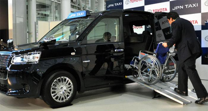 Суперсовременные такси для иностранных гостей и, прежде всего, участников Паралимпиады. /Фото:asahichinese-f.com