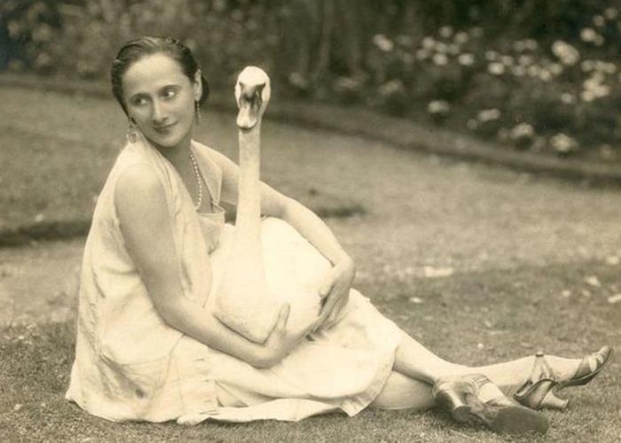 Великая балерина с любимым лебедем Джеком.