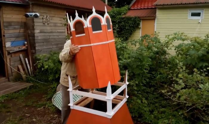 Изготовление башни. /Фото:кадр из видеоролика Л.Н. Рагутского