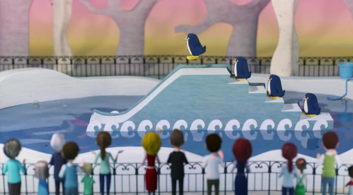 Шоу пингвинов в мультике про Гену и Чебурашку. Неожиданно!