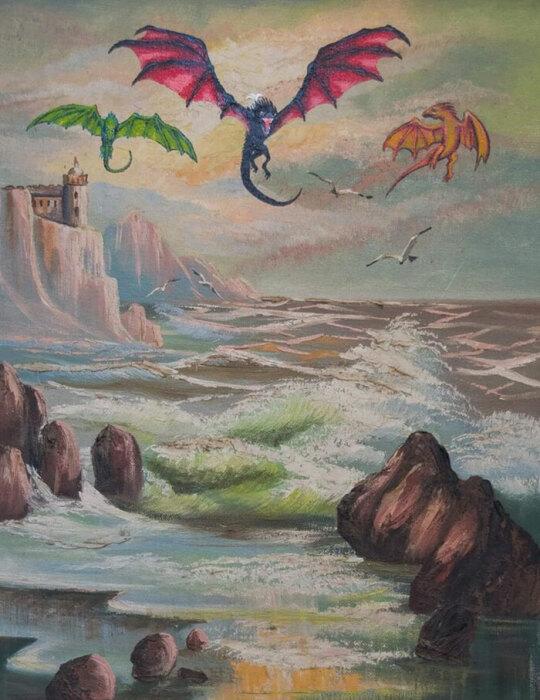 Крылатые гости на скалистом побережье.