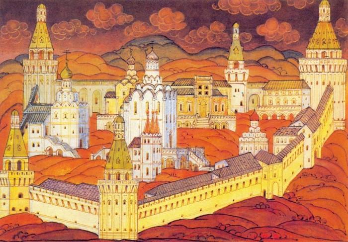 Симонов монастырь в начале XVIII в./ Фото:pravoslavie.ru
