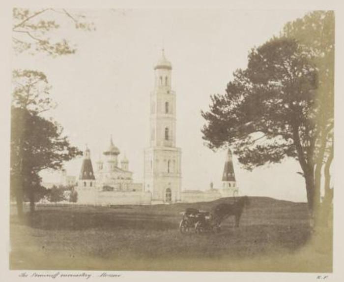 Первая фотография колокольни. 1852 г. /Фото:pravoslavie.ru