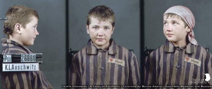 Фотографии Йозефы, сделанные в концлагере.