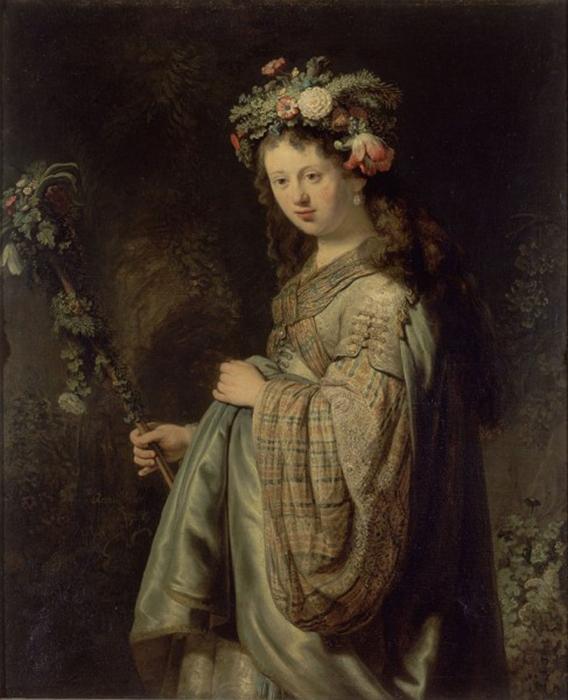 Натурщица и жена Рембранта в образе Флоры