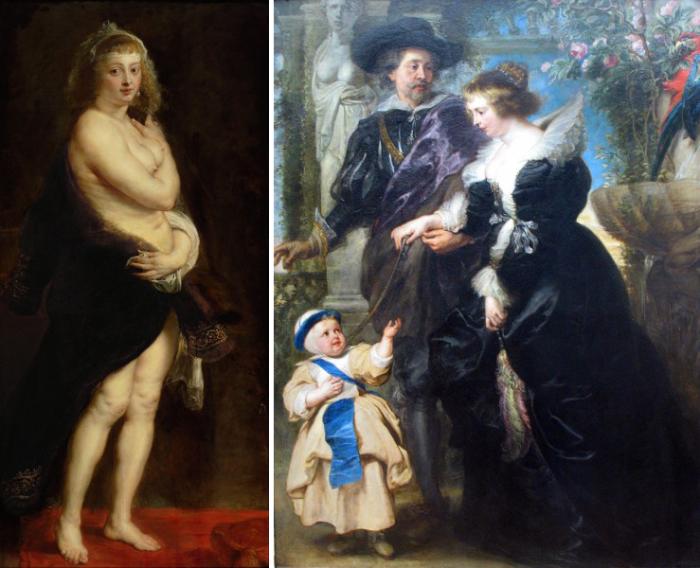 В браке с художником она родила пятерых детей.
