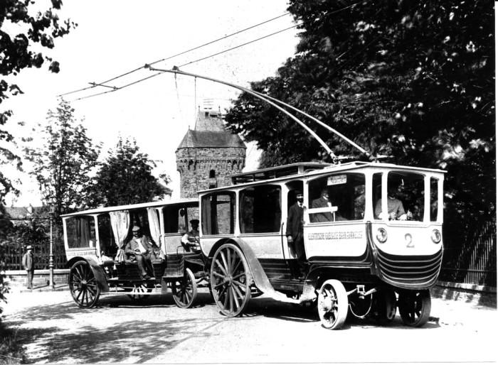 Троллейбус в Германии: начало прошлого века. /Фото:alternathistory.com