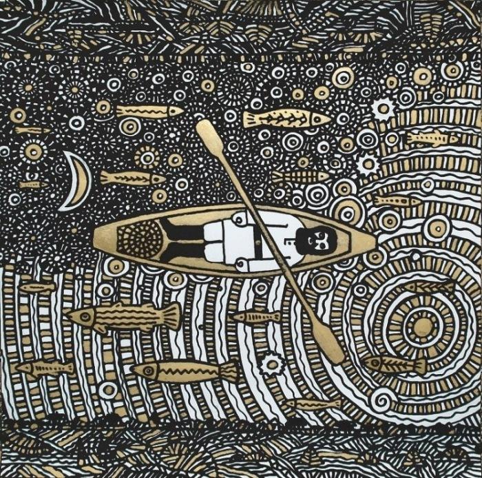 Художник-график показывает уникальность древней культуры и философии народов Севера. /gallery.ru
