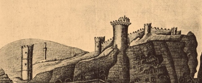 Общий вид крепости, рисунок 1783 года.