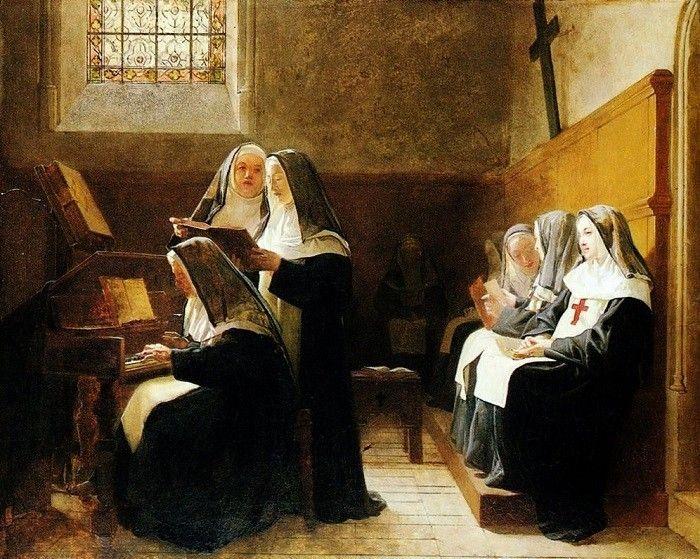 Жизнь в монастыре была для молодой женщины невыносима.