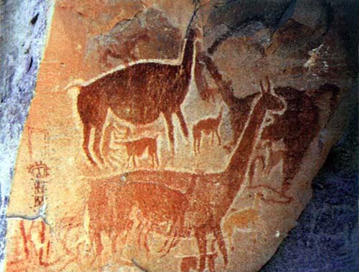 Наскальная живопись древних индейцев. /Фото:vicuna.ru