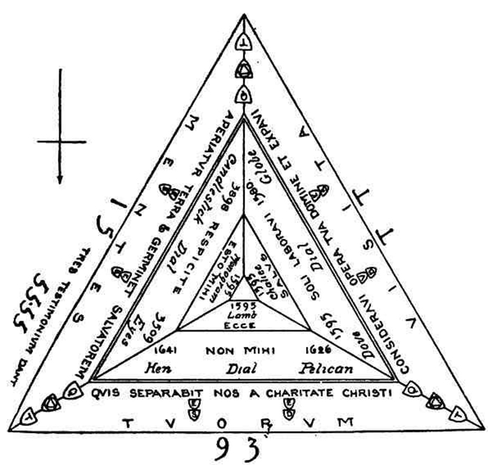 План треугольного замка.