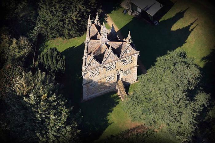 Треугольный дом Трешема: вид сверху.