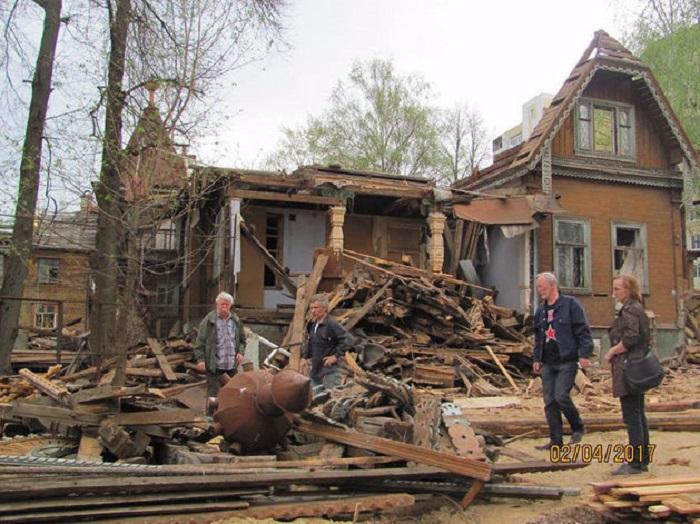 Разбор дома. /Фото: Анна Давыдова, nn.dk.ru