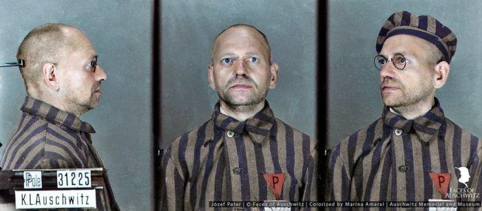 Фото Йозефа при поступлении в Освенцим.