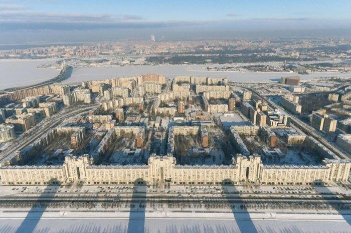 Так дом выглядит с высоты птичьего полета. /Фото:the-village.ru
