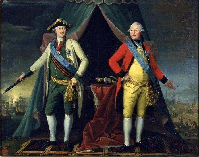 Граф Орловский Чесменский (слева) и князь Орлов (справа). Худ.: Ж.Л.де Велли.