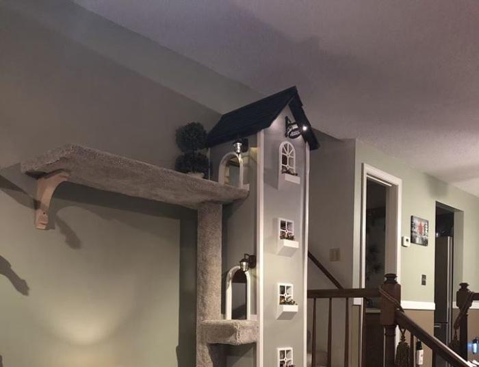 Домик для кошек в доме для человека.