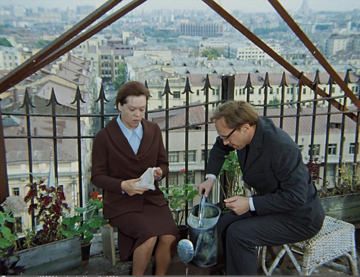 Знаменитый разговор на крыше. /Кадр из фильма.