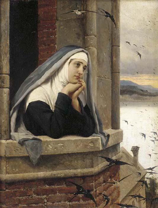 Мечты монахини. Худ. Эжен де Блаас