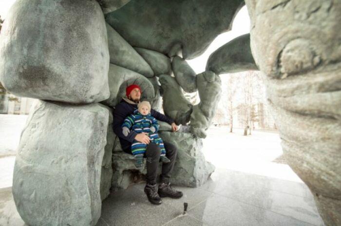 Что-то типа пещеры. Здесь можно посидеть и подумать о вечном. Или просто отдохнуть. /Фото: krsk.aif.ru, Ирина Якунина