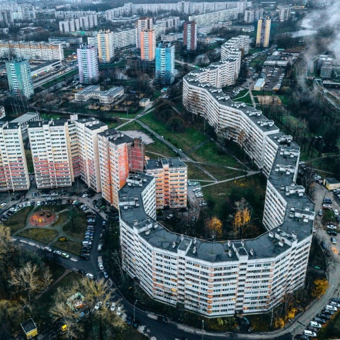 Оригинальное для советского градостроительства архитектурное решение. /Фото:oli-da.livejournal.com