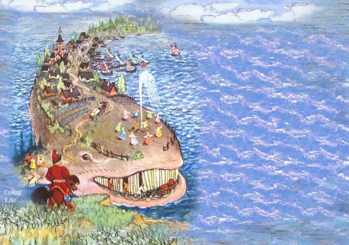 Кит - символ всемирного потопа?/ Иллюстрация Н.Кочергина